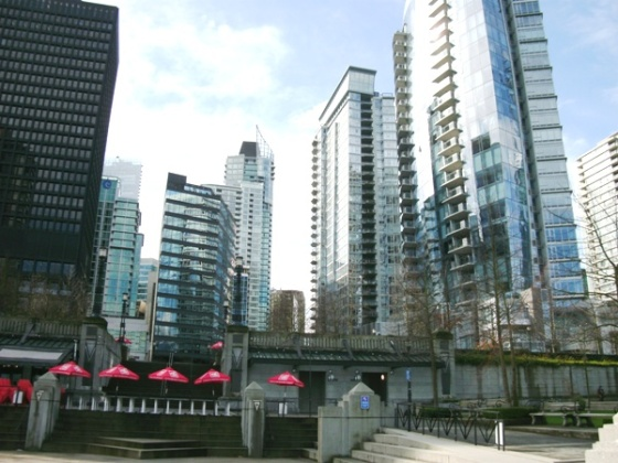 Vancouver Buildings facing Coal Harbour