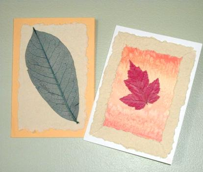 Two handmade greeting cards