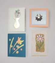 Four handcrafted cards