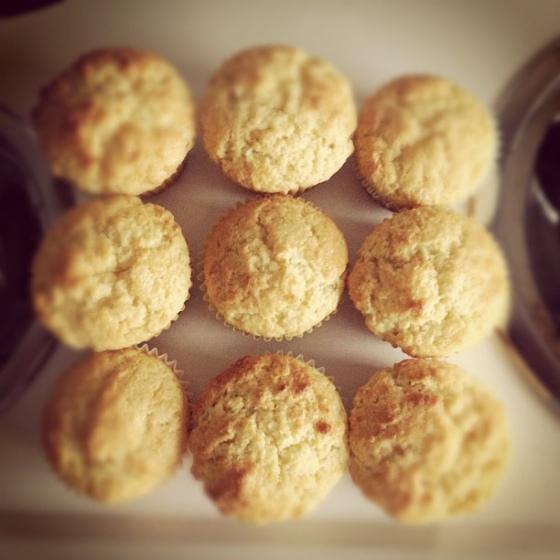 Sunday baking lemon muffins