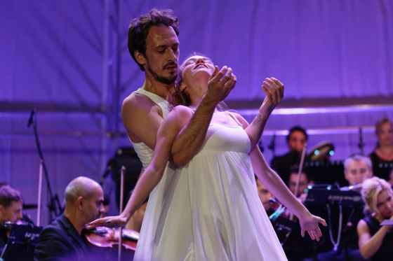 man and woman dancing